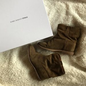 Isabel marant crisi boots brown 6 slouch ankle